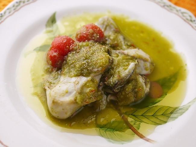 牡蠣の新緑酢