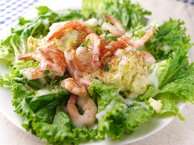 小海老とポテトのサラダ