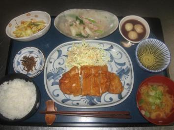 0307 豚肉の中華風天ぷらランチ