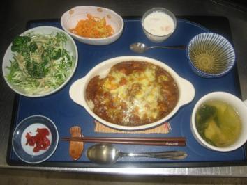 0419 キーマカレーのチーズ焼きランチ