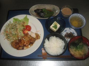 0905 鶏肉の生姜焼きランチ