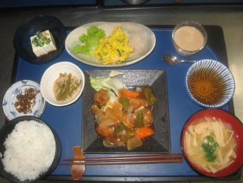 0917  ヘルシー酢豚ランチ