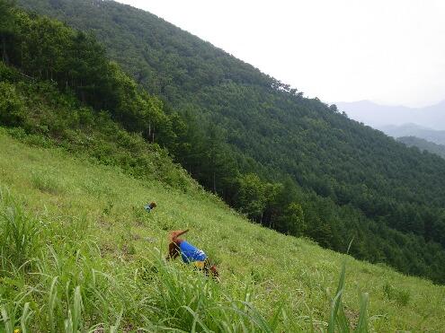 標高1600メートルの草原で遊ぶ子供たち