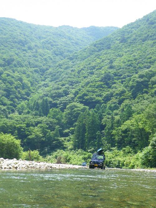川遊び ジムニー