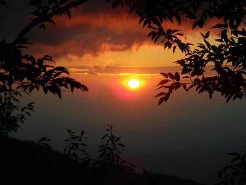 茶臼登山 日の出