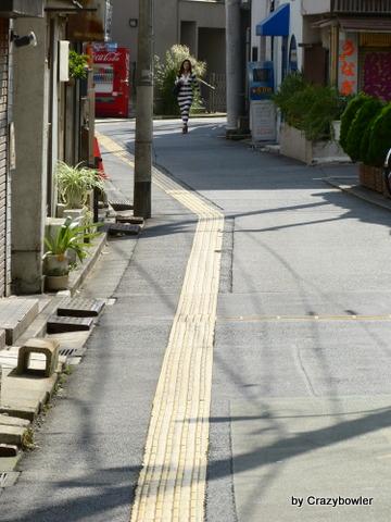 秣川跡の道