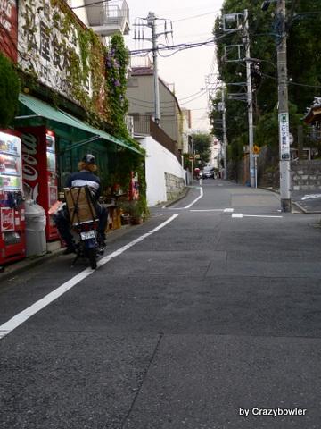 高田馬場跡から面影橋へ下る坂