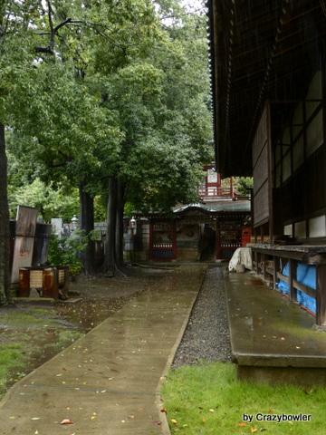 金蔵寺 山門へ