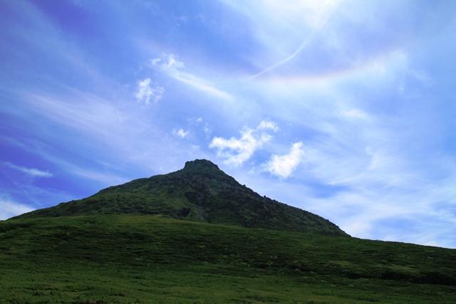054羅臼岳と虹