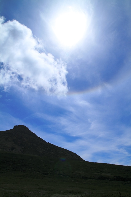 060羅臼岳と虹