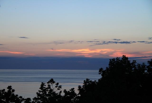 105オホーツク海の夕焼け