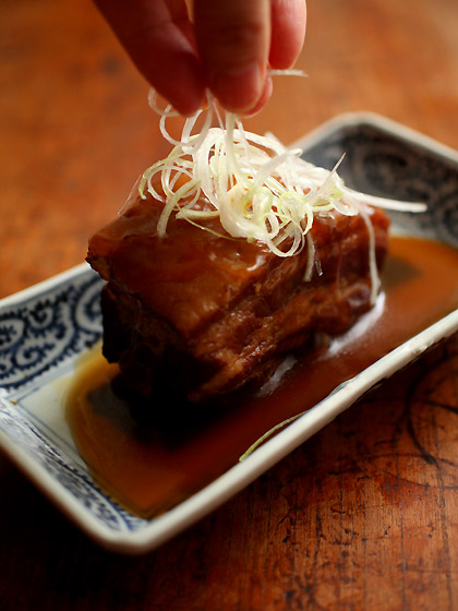 豚の角煮(白髪葱)