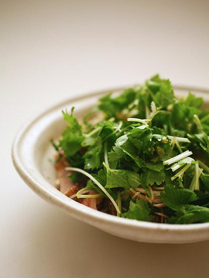 鰹の燻製たたき2010夏バージョン(薬味野菜だらけ)