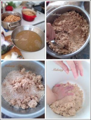 お味噌を作る