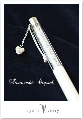 crystal-verry* クリスタルベリー *・オーナーのブログ・*-スワロフスキー社 チャーム付きボールペン