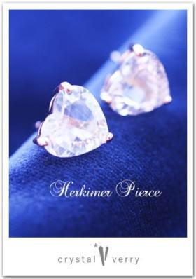 crystal-verry* クリスタルベリー *・オーナーのブログ・*-ハーキマーダイヤモンド オーダーピアス