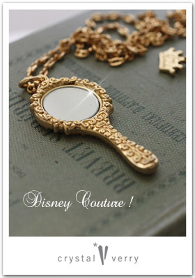 crystal-verry* クリスタルベリー *・オーナーのブログ・*-Disney Couture JEWelry  手鏡