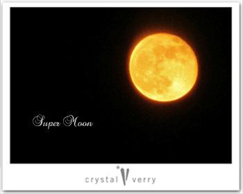 crystal-verry* クリスタルベリー *・オーナーのブログ・*-スーパームーン