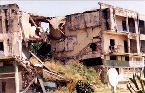 戦争で破壊された建物