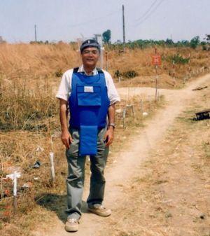 地雷撤去の現場