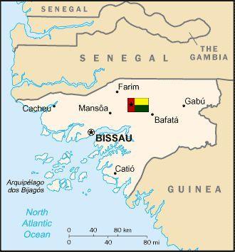 ギニアビサウ共和国地図
