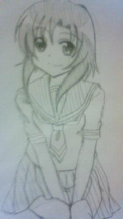 ひさしぶりに描いたレナ