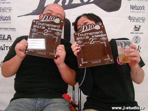 DJOlv3準優勝サトウカズナリ・フカセタケシ