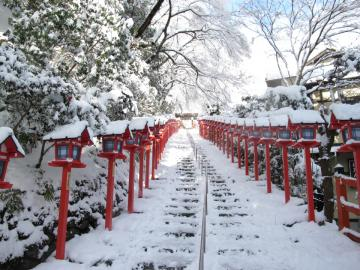 雪 貴船神社