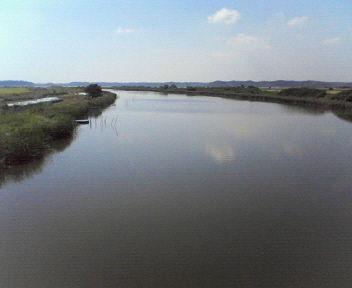 20110908長門川酒直水門から印旛沼方面望む