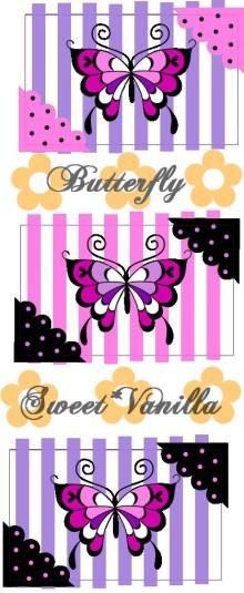 Sweet☆Vanilla-バタフライ 名刺ケース 下絵