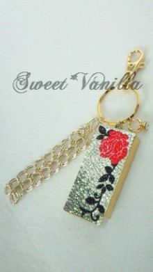 Sweet☆Vanilla-薔薇 バッグチャーム