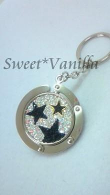 Sweet☆Vanilla-星柄 バッグハンガー