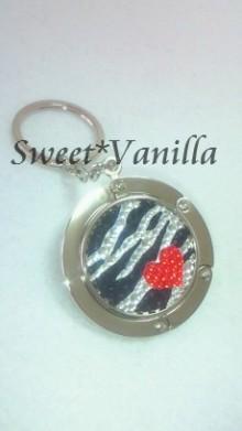 Sweet☆Vanilla-ゼブラ柄 バッグハンガー