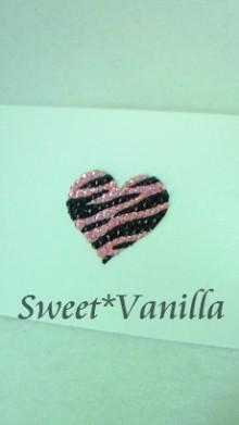 Sweet☆Vanilla-ハートゼブラ ポイントシール
