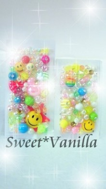 Decoshop Sweet☆Vanilla-スマイリー 盛りデコシート