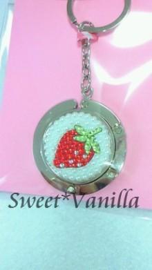 Decoshop Sweet☆Vanilla-イチゴ デコバッグハンガー
