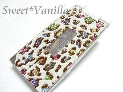 Decoshop Sweet☆Vanilla-ヒョウ柄マルチカラー デコ電