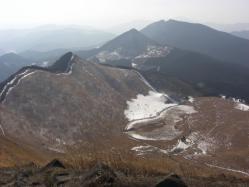曽爾高原を見下ろす