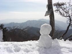 記念の雪だるま