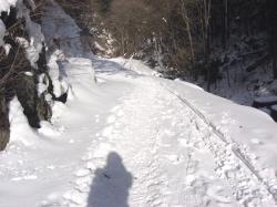 良い天気で雪解けが心配