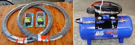 DIY14_9_29 新タイヤ&圧縮空気タンク