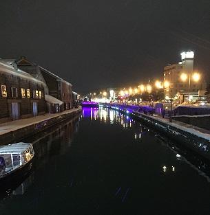 夜景小樽運河
