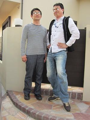 友人とバカ写真