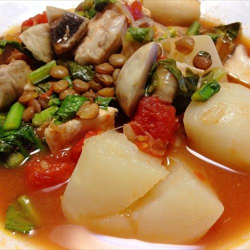 3レンズ豆スープ