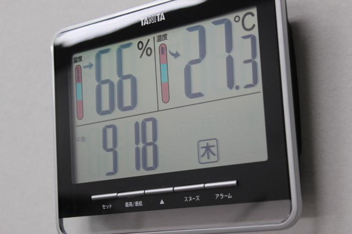 適温、安定した湿度