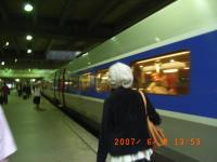 電車で出発~!