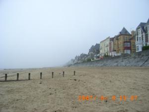 朝もやの海岸