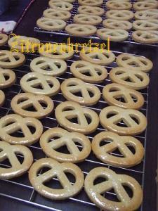 プレッツェル形レモンクッキー