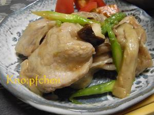 豚肉とアスパラの味噌炒め