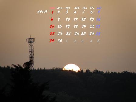 四月カレンダー2ab